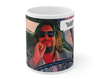 Dude Abides Big Lebowski Coffee Mug