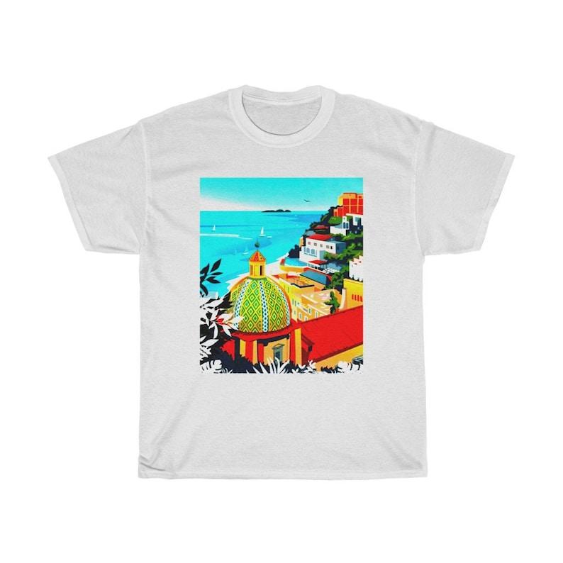 Dreaming of Positano Amalfi Coast T-Shirt image 1