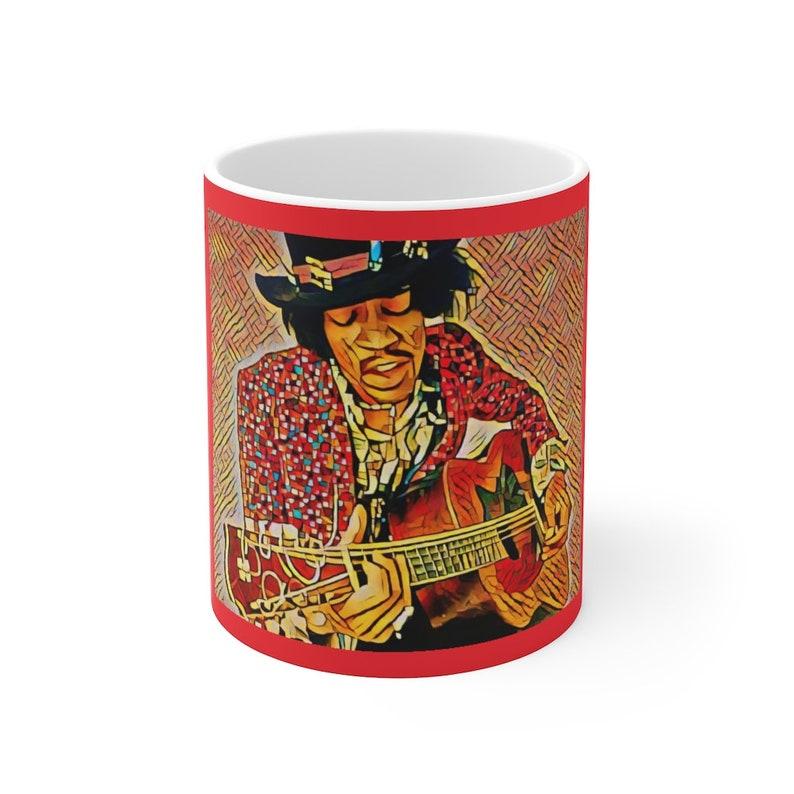 Jimi Hendrix Psychedelic Coffee Mug image 0