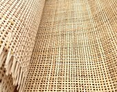 27.5 quot Wide, NATURAL Radio Weave Rattan Cane Webbing, Sell By The Foot.