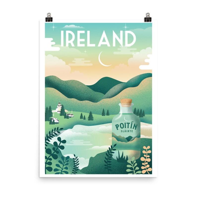 Retro Ireland Travel Poster Ireland Travel Art Vintage image 0