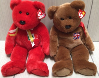 Stored Since Purchase in Plastic! MWMT 1999 Osito #4244 Never Used Collectible Original Ty Beanie Babies Bear