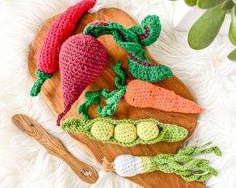 Crochet Vegetables - Farmers Market Bundle, Set of 3 - custom selection - toys for baby/toddler