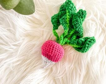 Crochet Vegetables - Radish - Baby/Toddler Toy