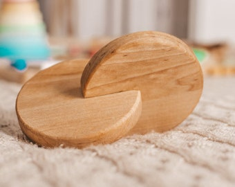 Montessori Interlocking Discs - Grasping Toy - Rolling Disc - Natural Toy - Sensory Toys - Baby Shower Gift - Baby Gift