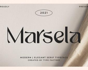 Marsela - Elegant & Modern Serif Font