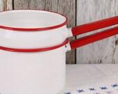 Collection Enamel Stove Top Pots Saucepans