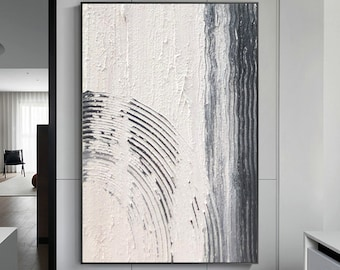 White Textured Painting,White Wall Art, White Abstract Art, White Canvas Art, White Framed Painting,White Wall Painting,Minimalist Art