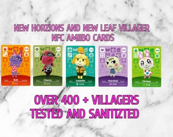 Animal Crossing Amiibo Cards Bundle ALL VILLAGERS