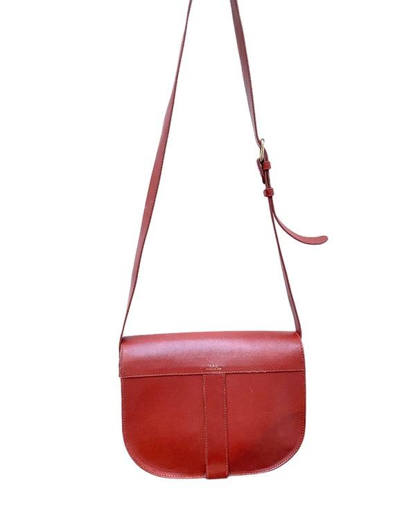 A.P.C. - Brown Leather Handbag - Half Moon  -  AP… - image 3