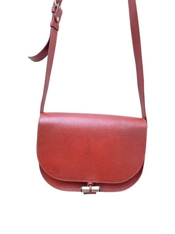 A.P.C. - Brown Leather Handbag - Half Moon  -  AP… - image 1
