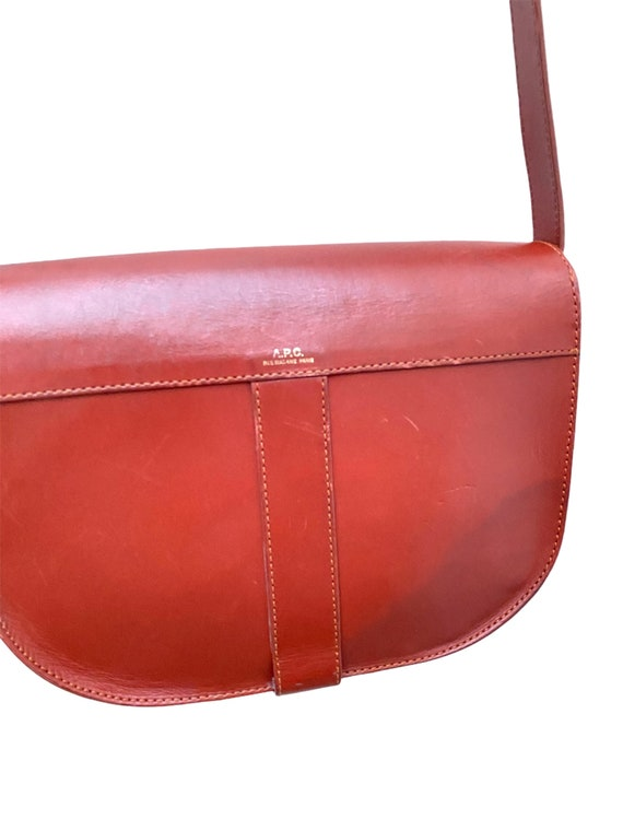 A.P.C. - Brown Leather Handbag - Half Moon  -  AP… - image 4