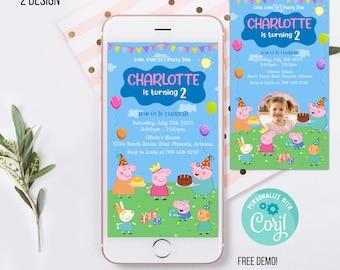 Kids Phone Birthday Invitation Template, kids Phone Birthday Invitation, kids Electronic Invite, Phone Invite PP1