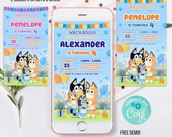 Kids Phone Birthday Invitation Template, kids Phone Birthday Invitation, kids Electronic Invite, Phone Invite