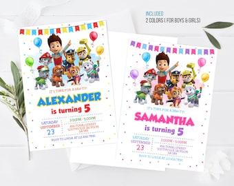Kids Birthday Invitation Template Printable, kids Birthday Invitation, kids Editable invitation