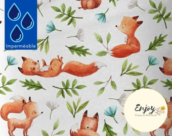 Waterproof Fox Fabric, Outdoor Fabric Forest Animals for Child Mother's Schoolbag Cushion Bench