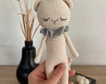 Teddy bear crocheted, crochet, cuddly toy, gift for birth, baby gift