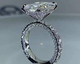 5Ct Radiant Moissanite Engagement Ring For Women.