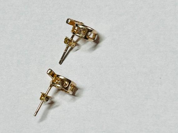 Diamond Earrings   Tiny diamond Stud Earrings   V… - image 2