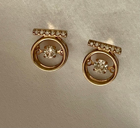 Diamond Earrings   Tiny diamond Stud Earrings   V… - image 10