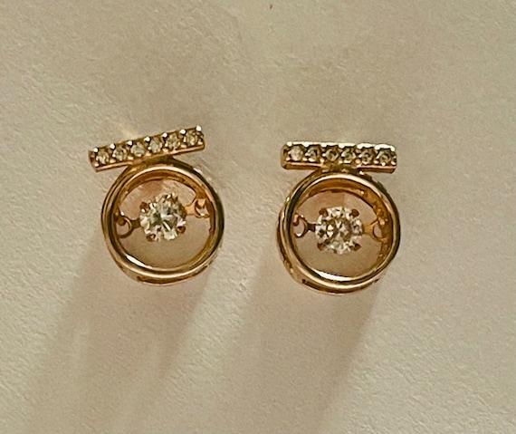 Diamond Earrings   Tiny diamond Stud Earrings   V… - image 1