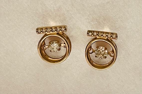 Diamond Earrings   Tiny diamond Stud Earrings   V… - image 5