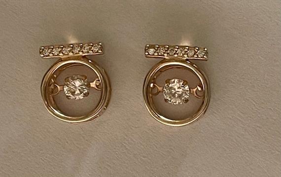 Diamond Earrings   Tiny diamond Stud Earrings   V… - image 4