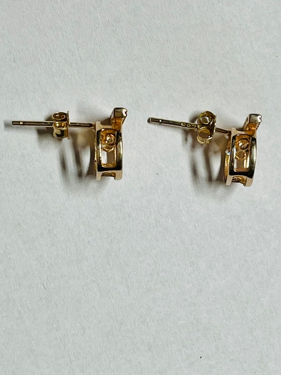 Diamond Earrings   Tiny diamond Stud Earrings   V… - image 6