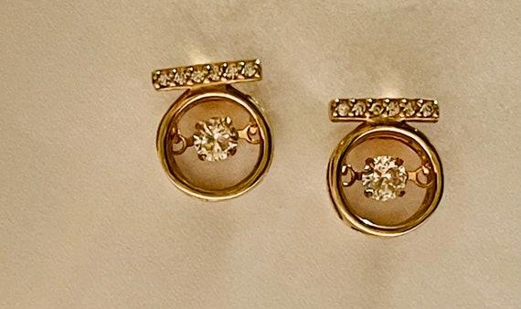 Diamond Earrings   Tiny diamond Stud Earrings   V… - image 3