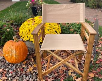 Classic Wooden Folding Director's Chair, Modern Wooden Folding Chair, Accent Chair,