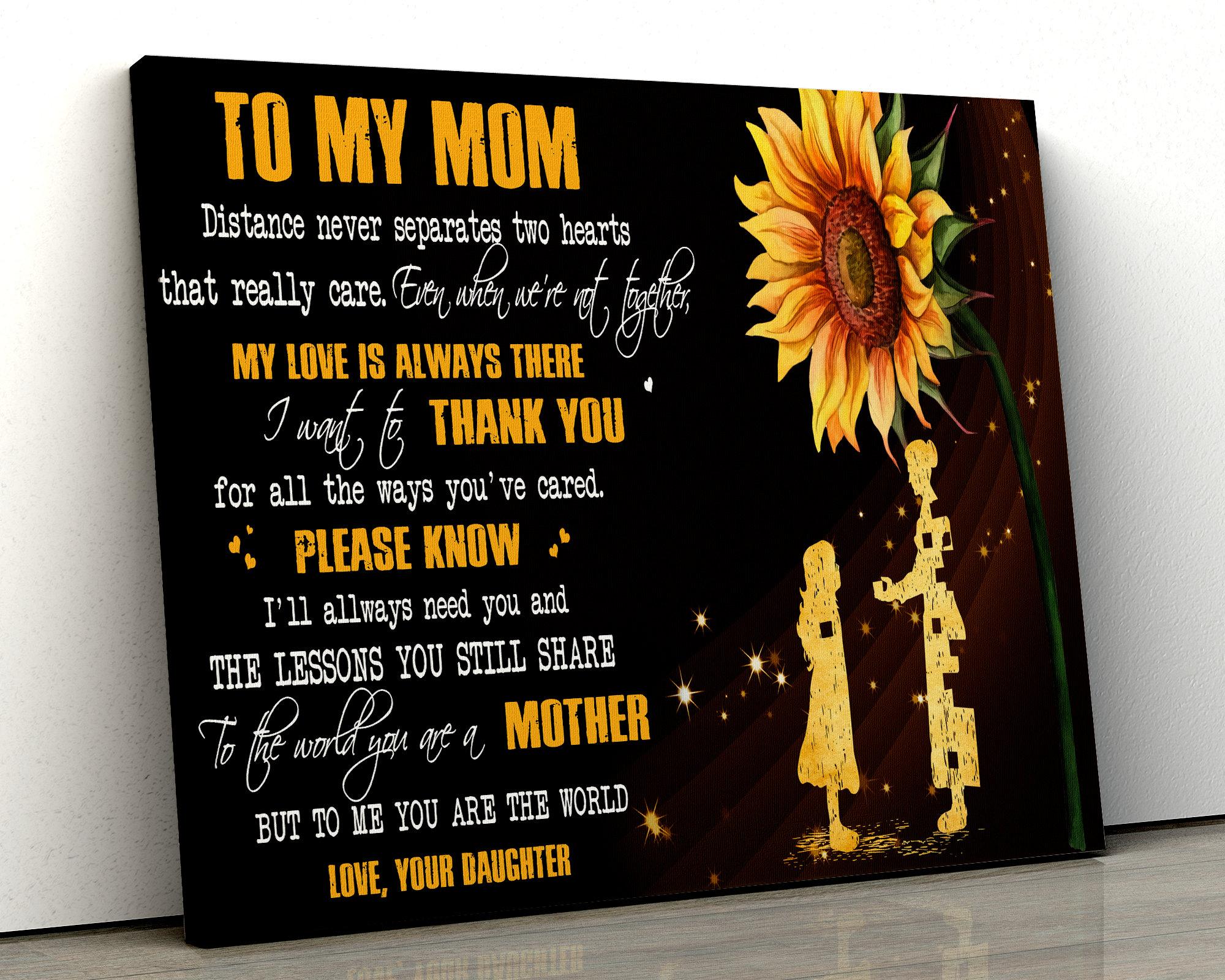 Sonnenblumen Leinwand Poster an meine Mama ich möchte