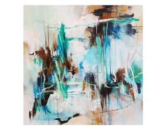 Abstract painting, 70x70cm (27,5x27,5inch), modern art.