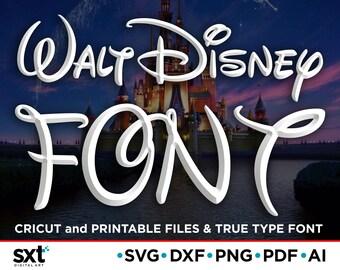 Walt Disney Font SVG, Disney Font, Cricut Fonts, Svg Files for Cricut, Walt Disney Symbol & Numbers, Alphabet svg, Silhouette svg, Cut files