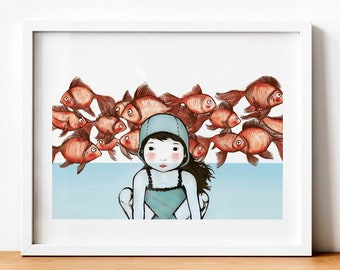Illustration Mar - Print (A4 and A3) - Wall decoration