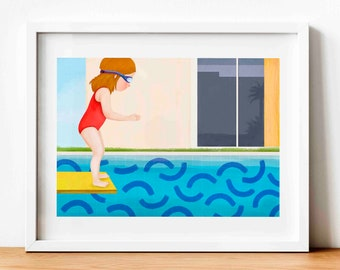 Illustration Pool - Print (A4 and A3) - Wall decoration