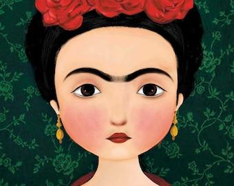 Illustration 'Frida Kahlo' - Print A4 - Wall decoration