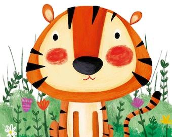 Custom Tiger Illustration - Print A4 and A3 - Wall Decoration