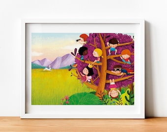 Illustration Tree - Print (A4 and A3) - Wall decoration