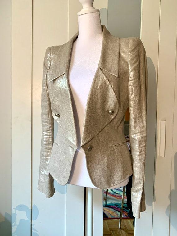 Alexander McQueen Metallic Gold Women's Blazer - image 6