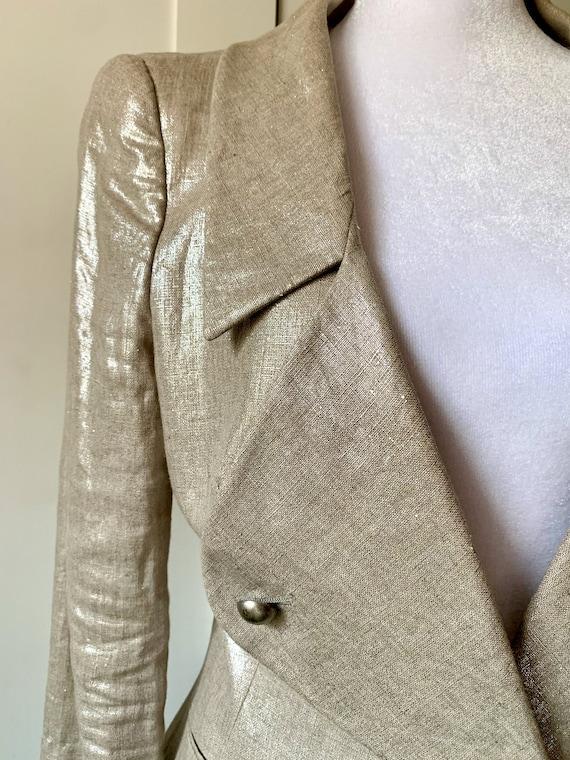 Alexander McQueen Metallic Gold Women's Blazer - image 5