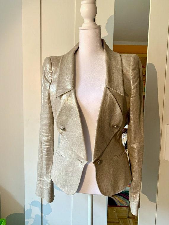 Alexander McQueen Metallic Gold Women's Blazer - image 2