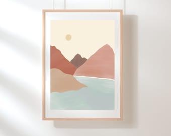 Neutral Landscape | Art Print | Wall Poster | 5x7 Print | 8.5x11 Print
