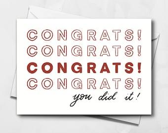 Congratulations Card | Blank Greeting Card | Celebration Card