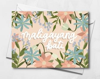 Filipino Birthday Card | Maligayang Bati Card | Blank Birthday Card | Greeting Card