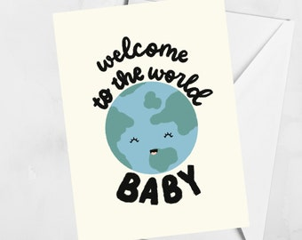Welcome to the World Baby Greeting Card | Celebration of Life Card | Blank Greeting Card