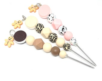 Silicone Cookie Beaded 15cm Decorating Scribe with Gingerbread Man Charm