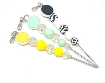 Silicone Cookie Beaded 15cm Decorating Scribe with Metal Whisk Charm