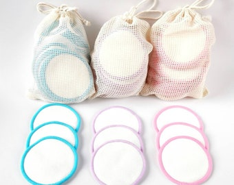 Reusable Cotton Pads For Toner - Eco Friendly Make Up Remover Wipes. Reusable Face Pads   Bamboo Cotton Rounds   Facial Cleansing Cloths