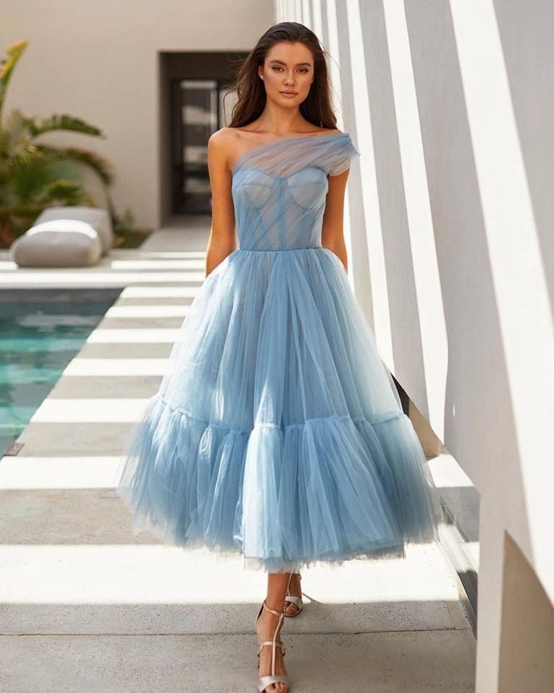Tutu Maxi Dress/ Tulle Corset Prom Dress/Tulle Prom image 0