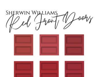 Color Palette: Red Front Doors